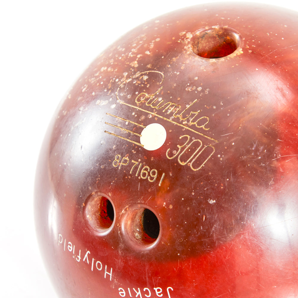 Vintage Red Bowling Ball