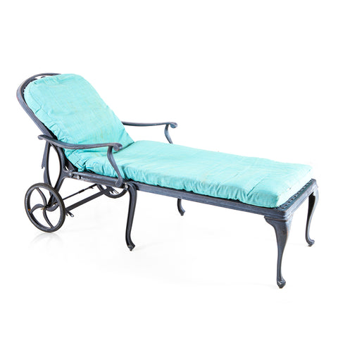 Black Metal Outdoor Chaise
