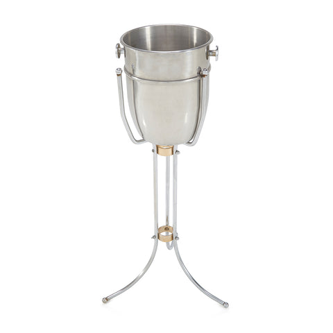 Aluminum Ice Bucket and Stand