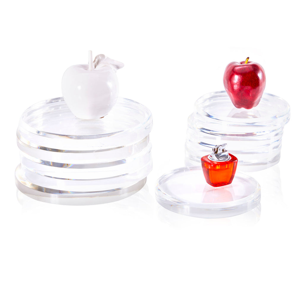 Clear Round Acrylic Display Risers