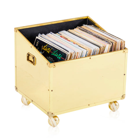 Rolling Brass Record Box