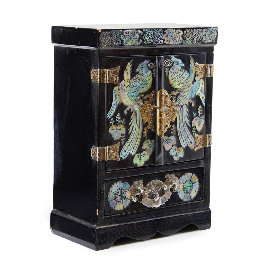 Black Armoire Jewelry Box