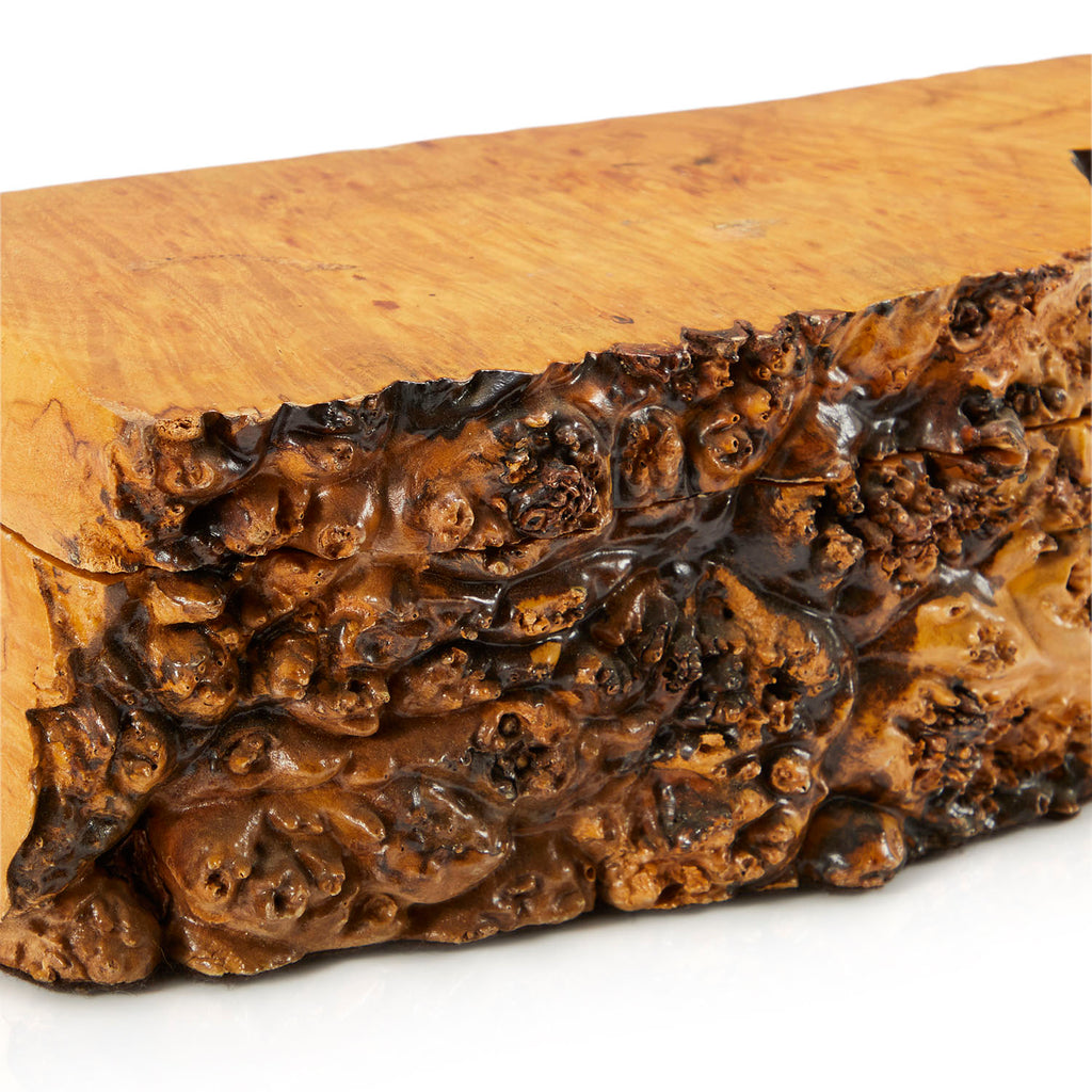Wood Slice Burl Wood Keepsake Box