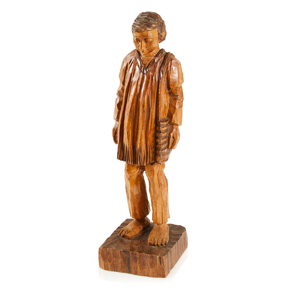 Carved Wood Person Sculpture