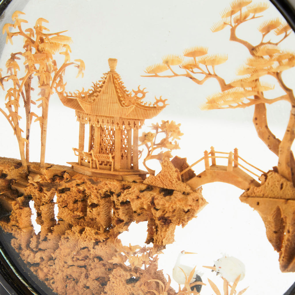 Resin Encased Japanese Scene - Circle