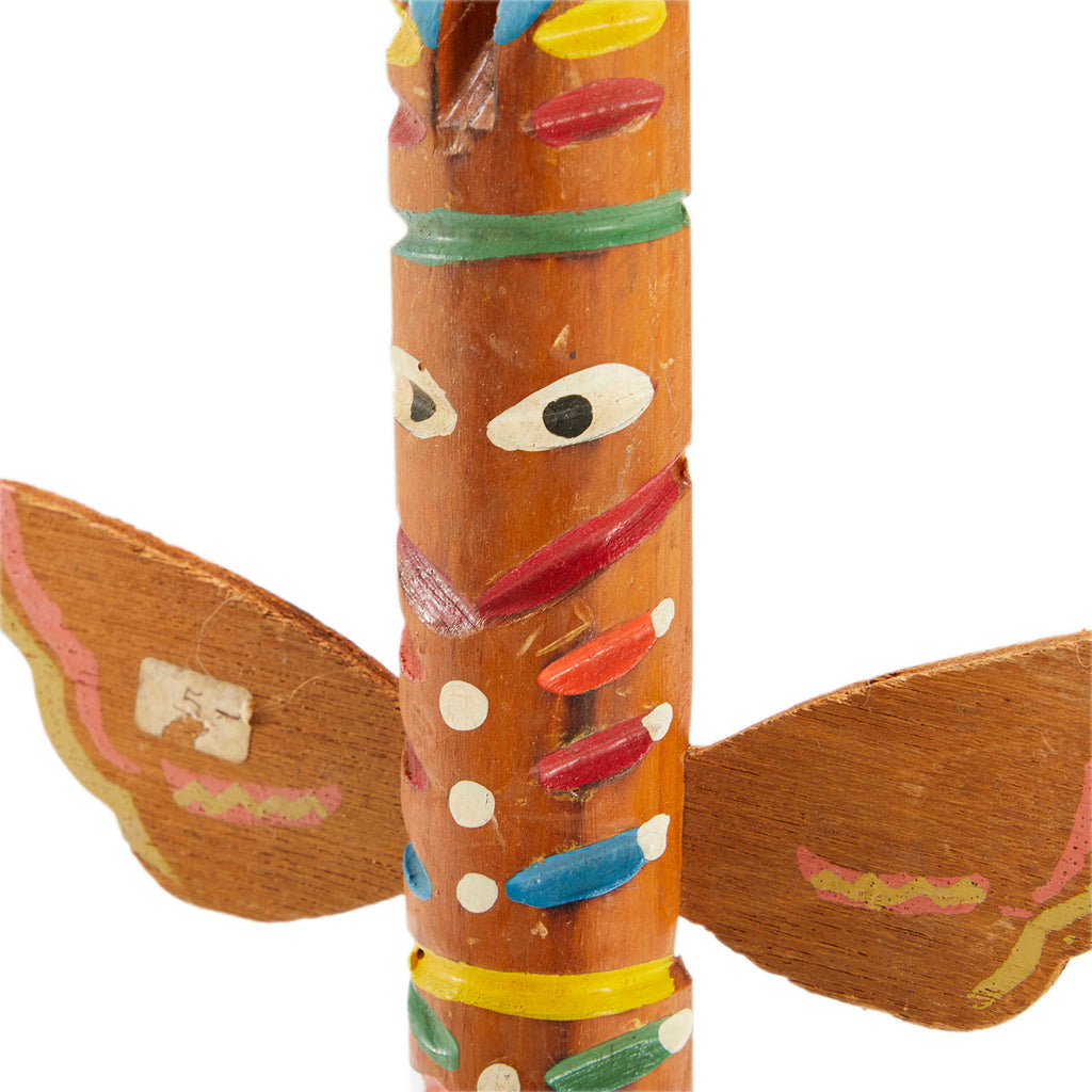 Short Painted Totem Sculpture