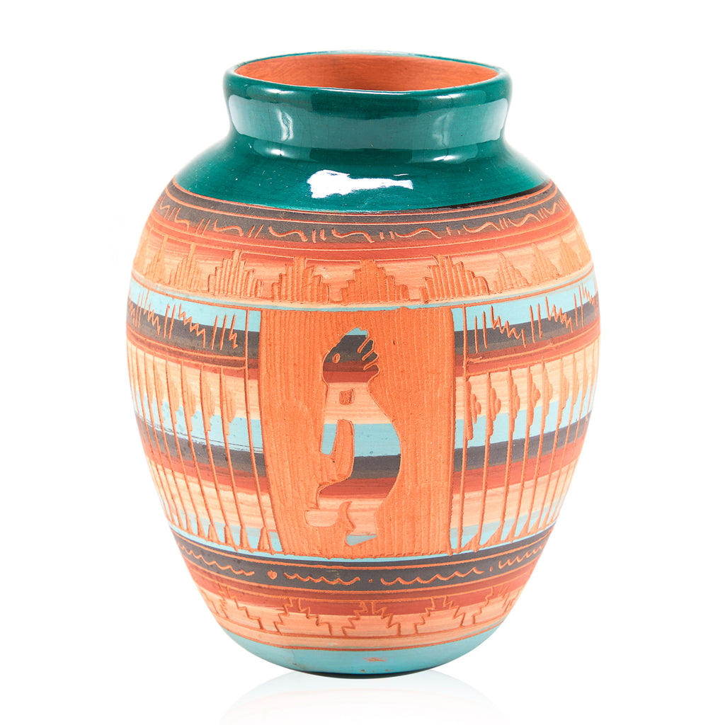 Kokopelli Terracotta Vase