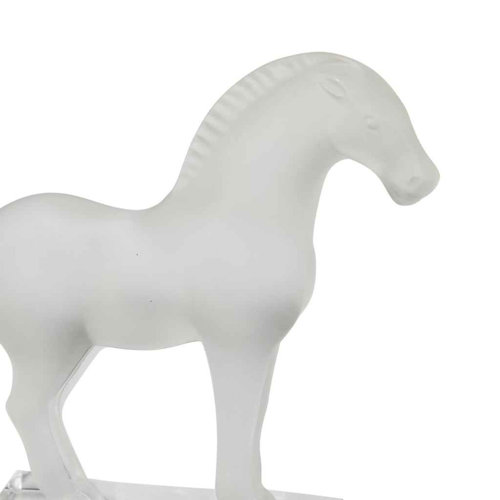 Glass Horse Figurine Paperweight