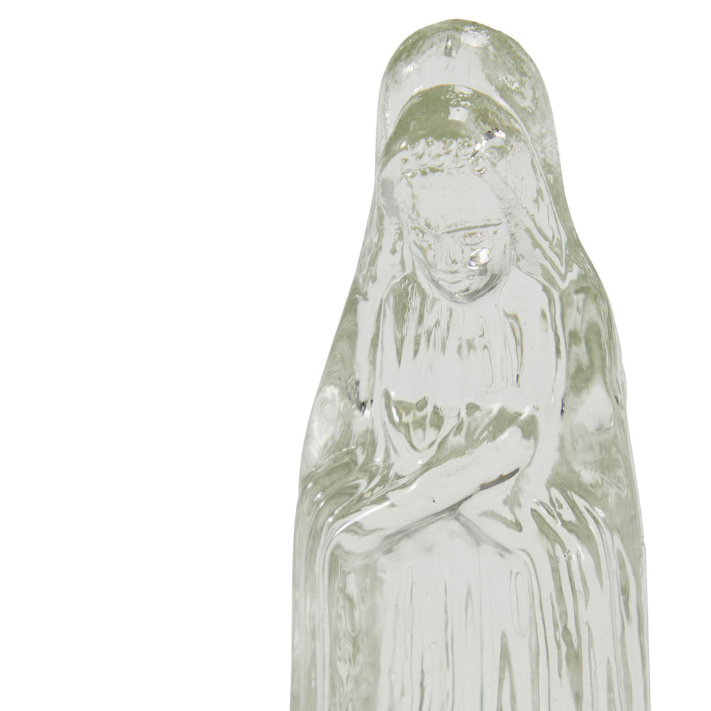 Glass Religious Woman Figurine