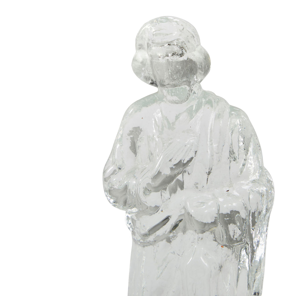 Glass Religious Man Figurine