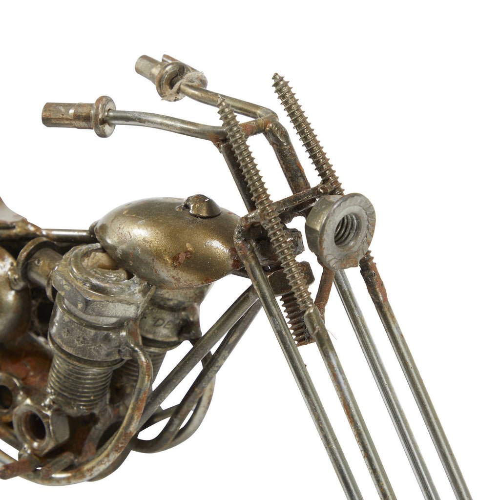 Miniature Assemblage Tin Motorcycle - Chopper