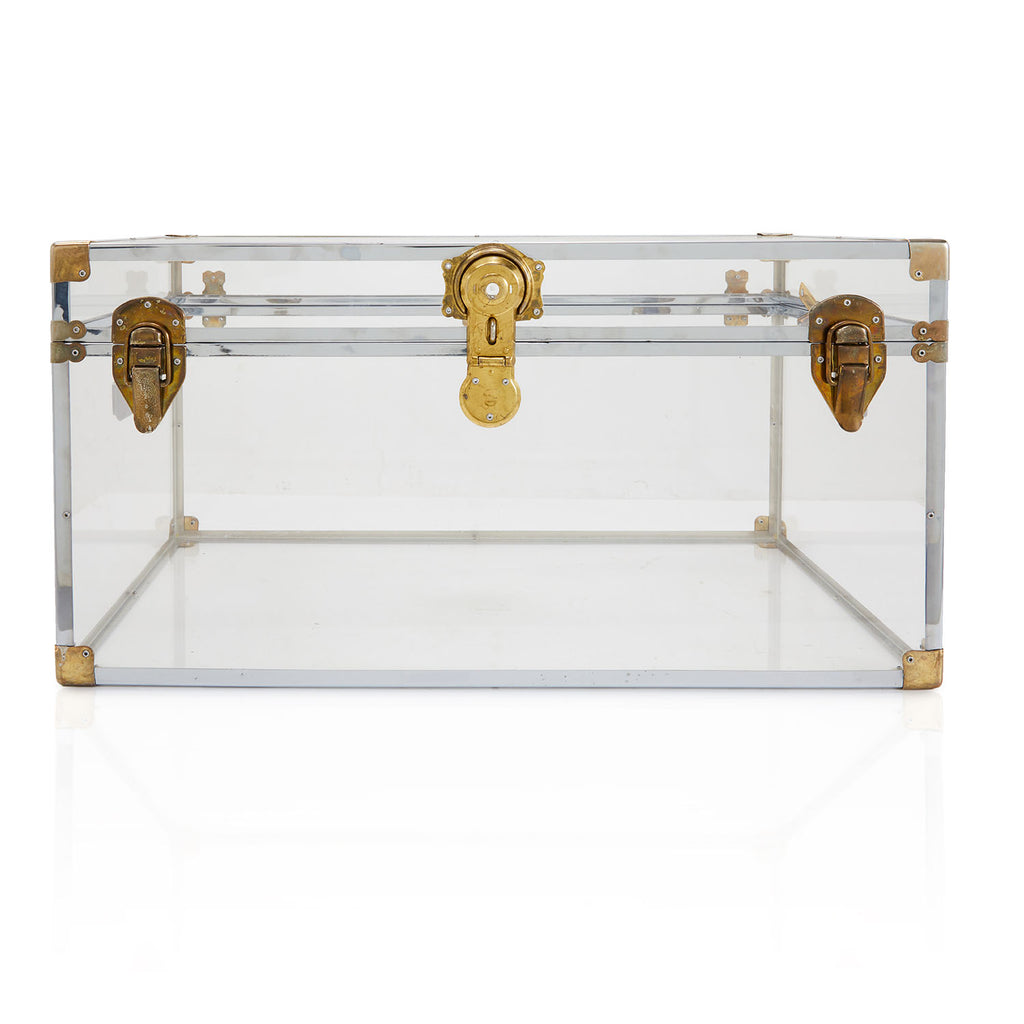 Clear Acrylic and Gold Trunk