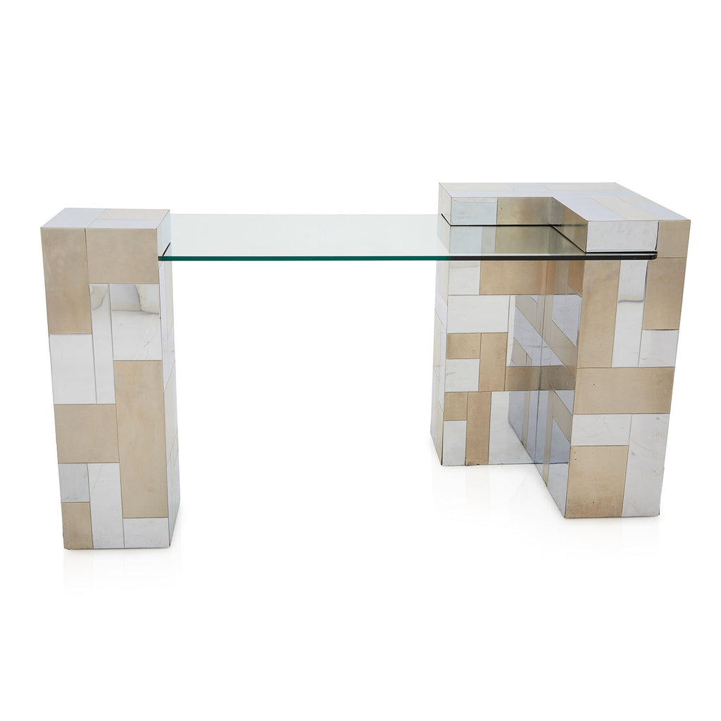 Gold and Silver Contemporary Console Table