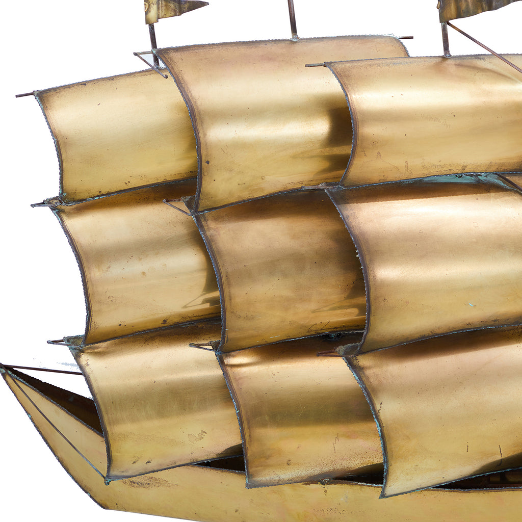 Brass Ship Wall Hanging
