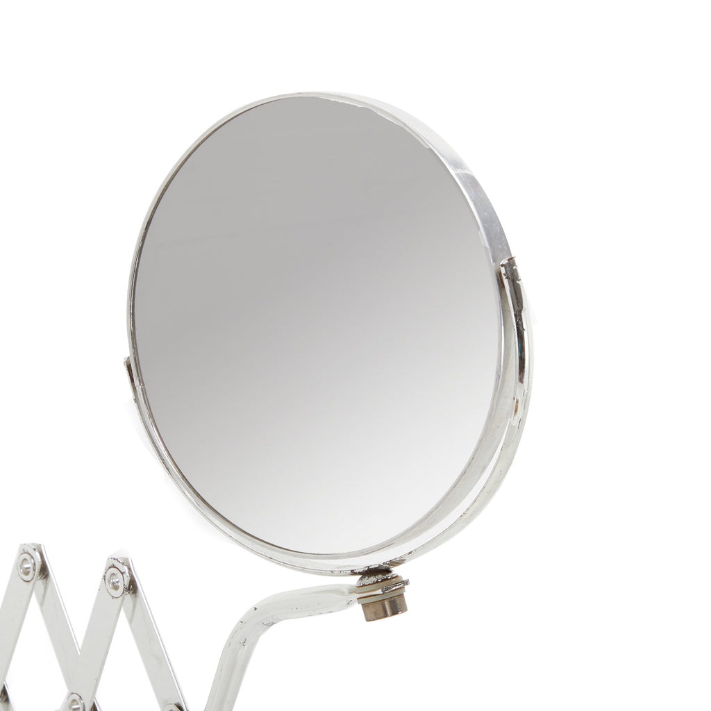 Silver Accordion Vanity Mirror