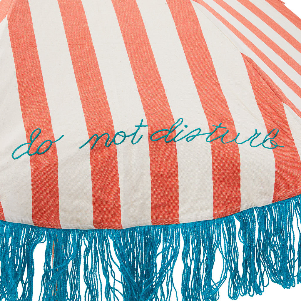 Red White and Blue Patio Umbrella with Base