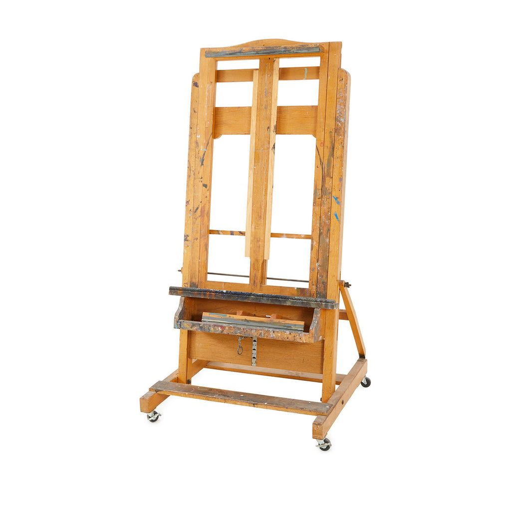 Rolling Wood Art Easel