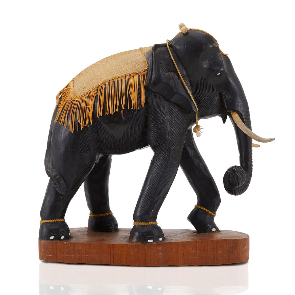 Decorated Antique Elephant Sculpture