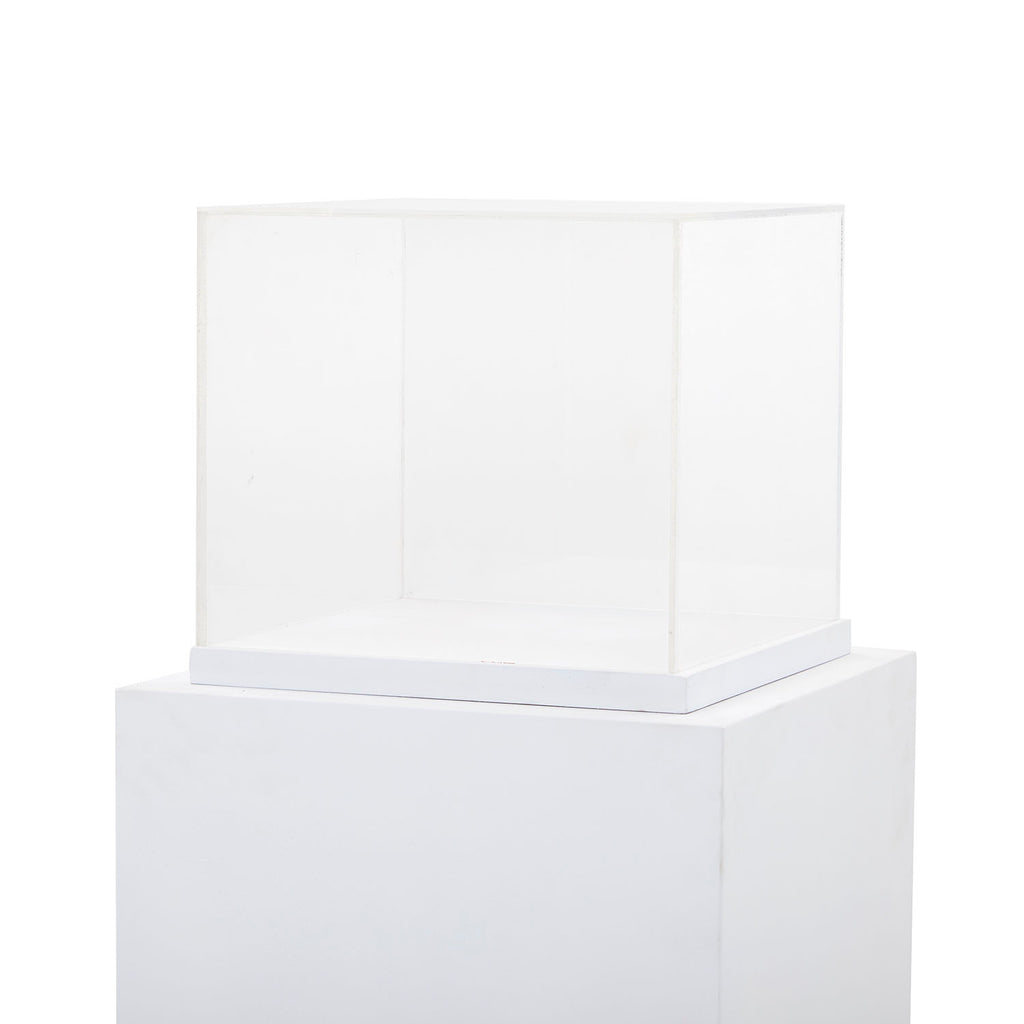 Display Case on White Podium