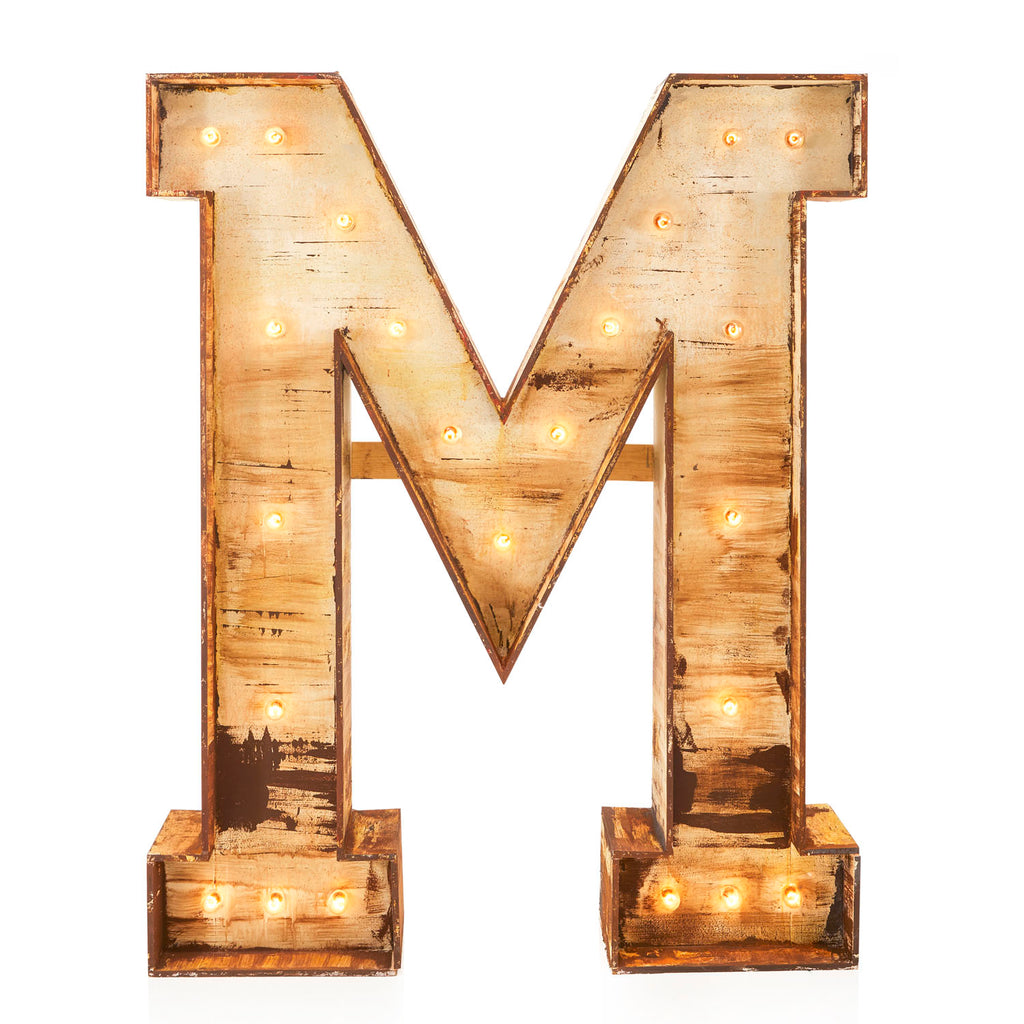 Giant Letter M Sculpture