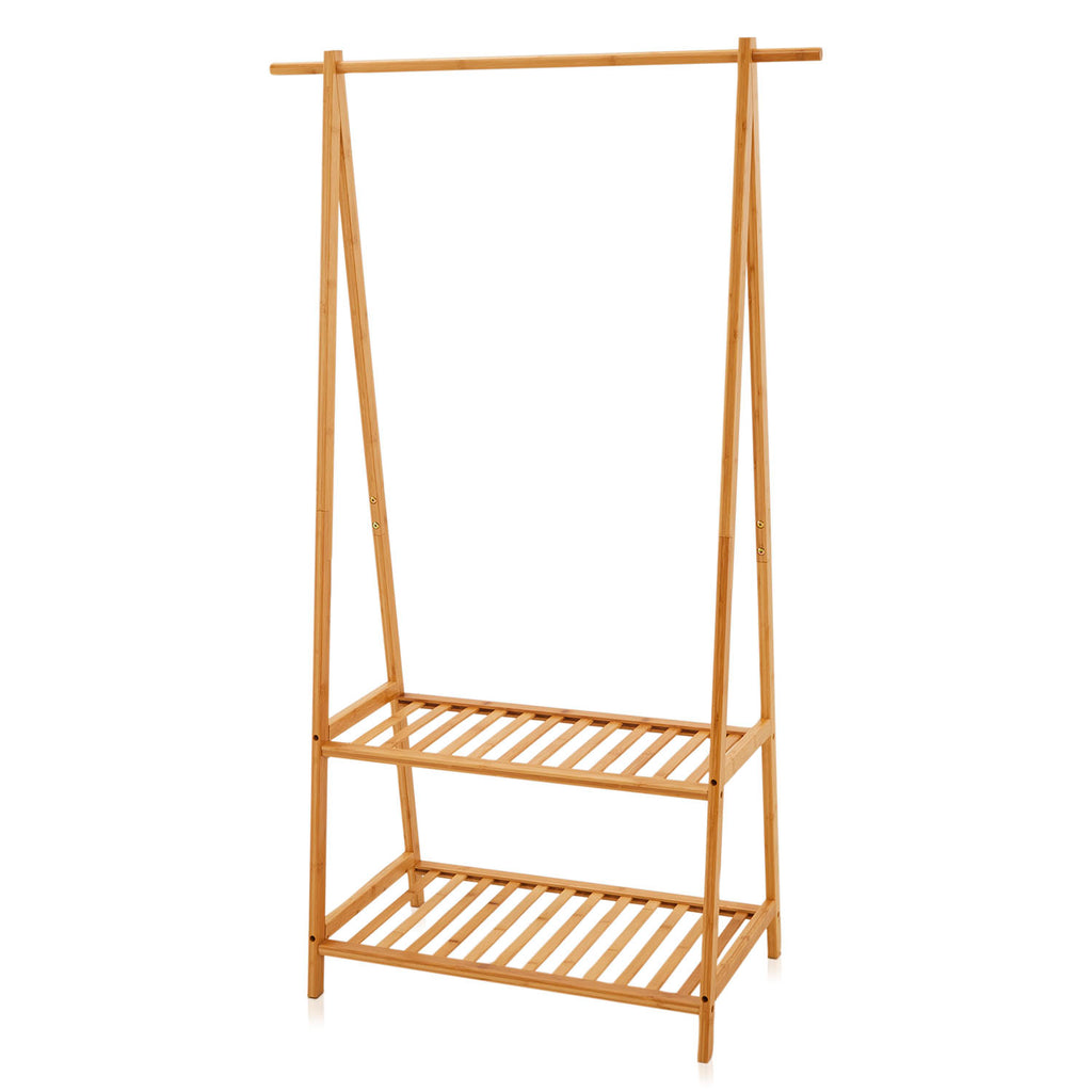 Blonde Wood Clothing Rack