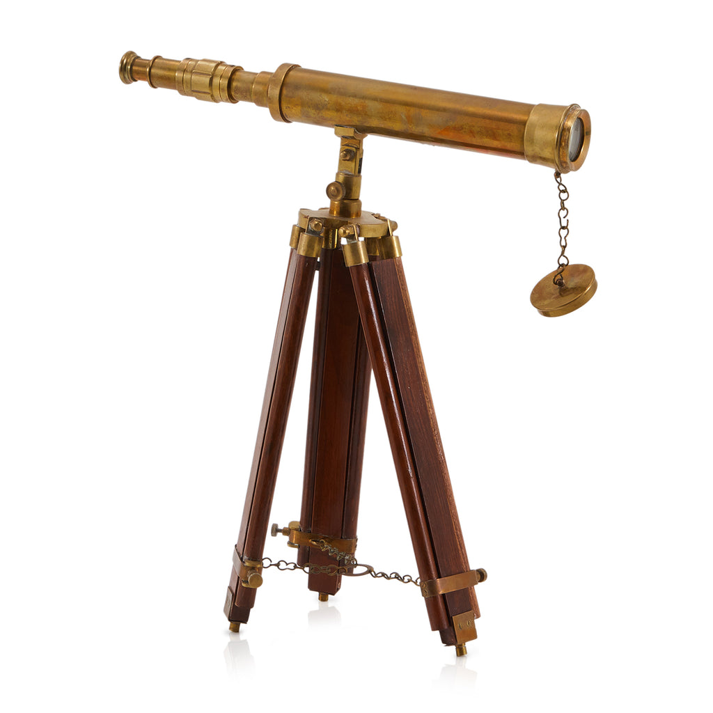Brass Telescope with Tripod