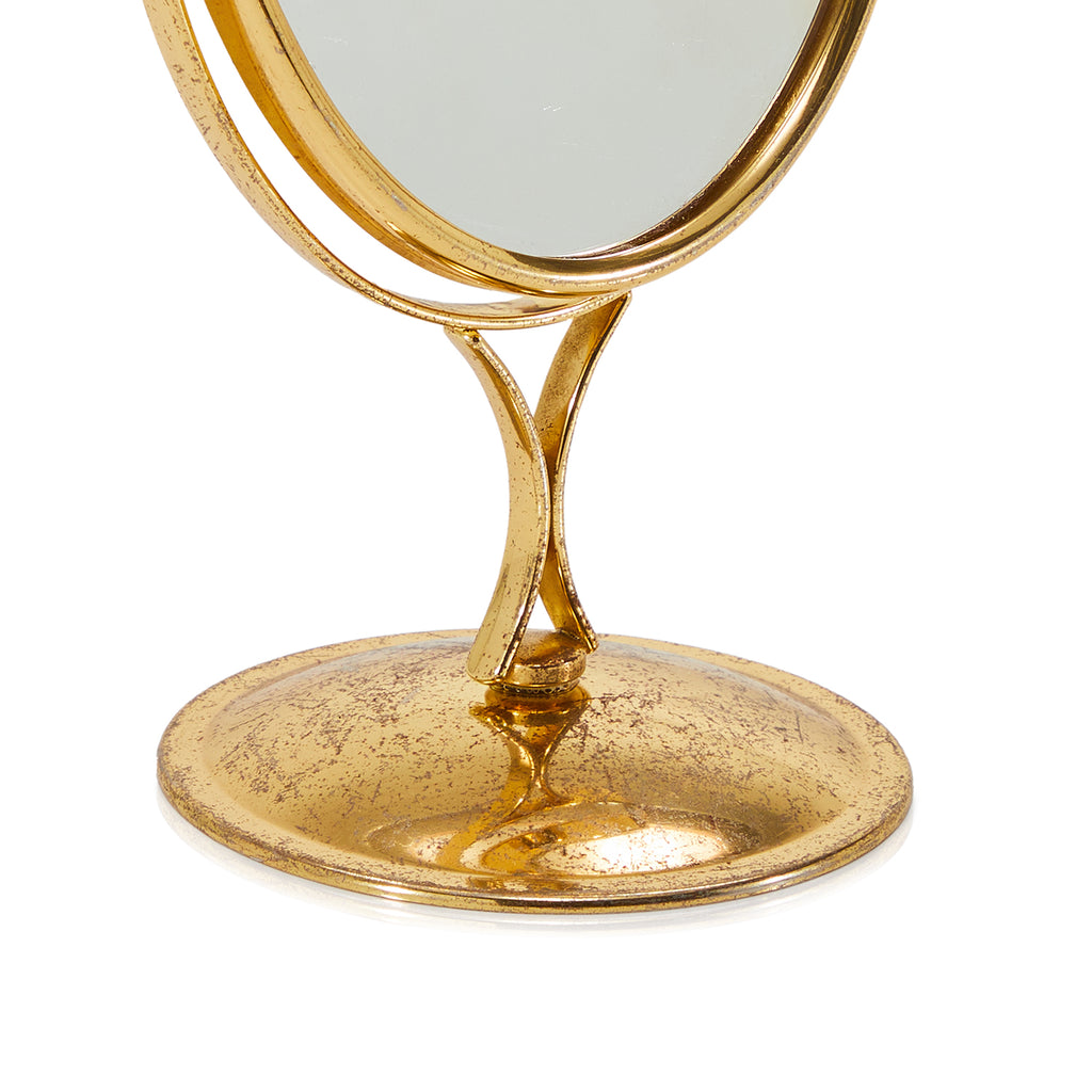Gold Oval Vanity Desk Mirror