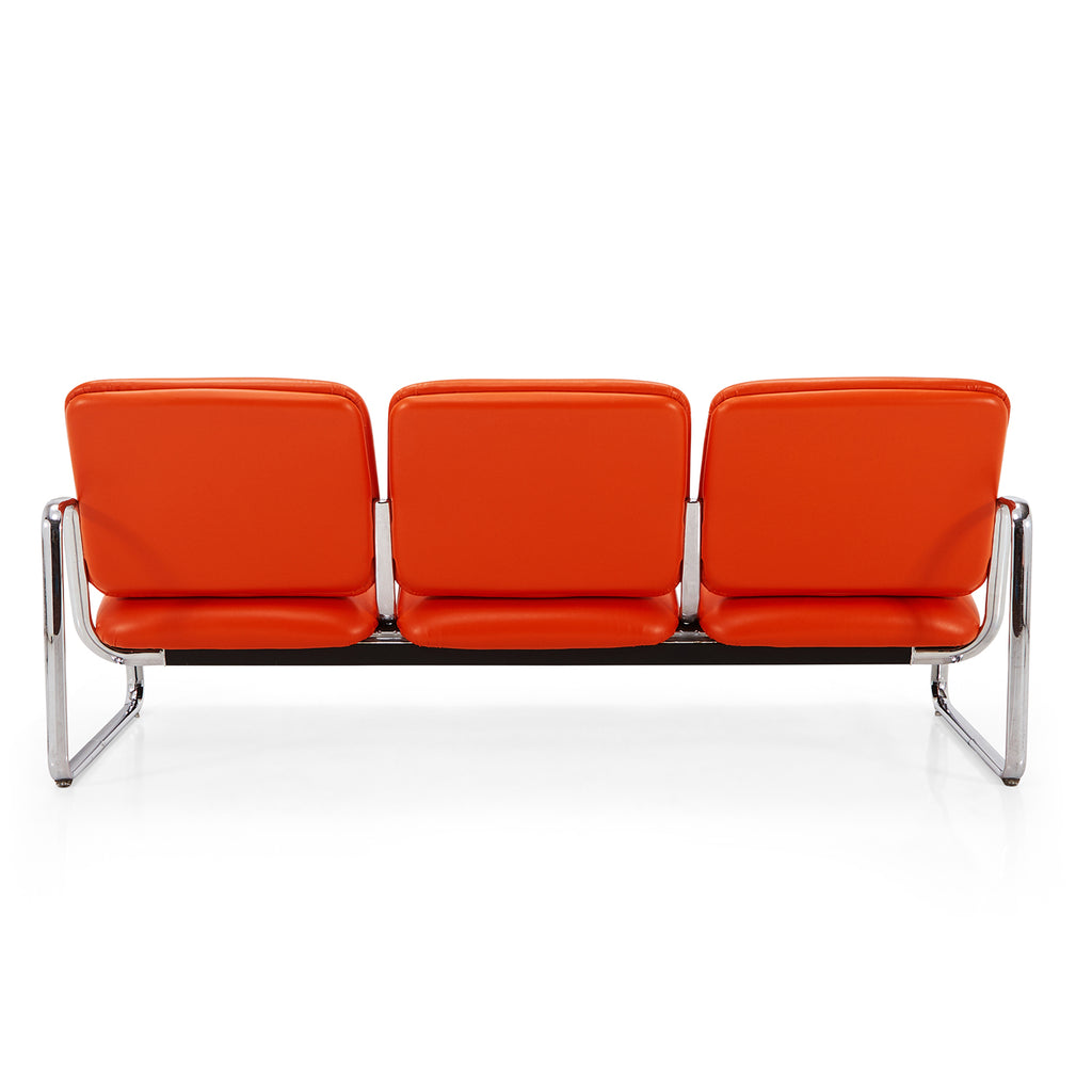 Orange Cushion Tandem Seating