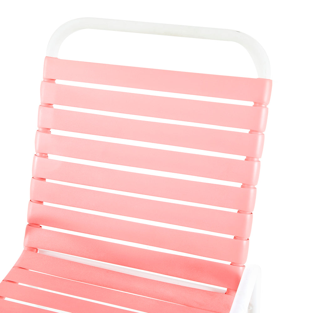 Pink Outdoor Strapped Chair