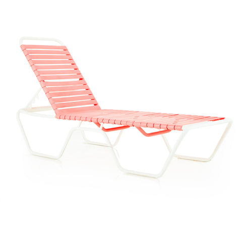 Pink Outdoor Banded Chaise