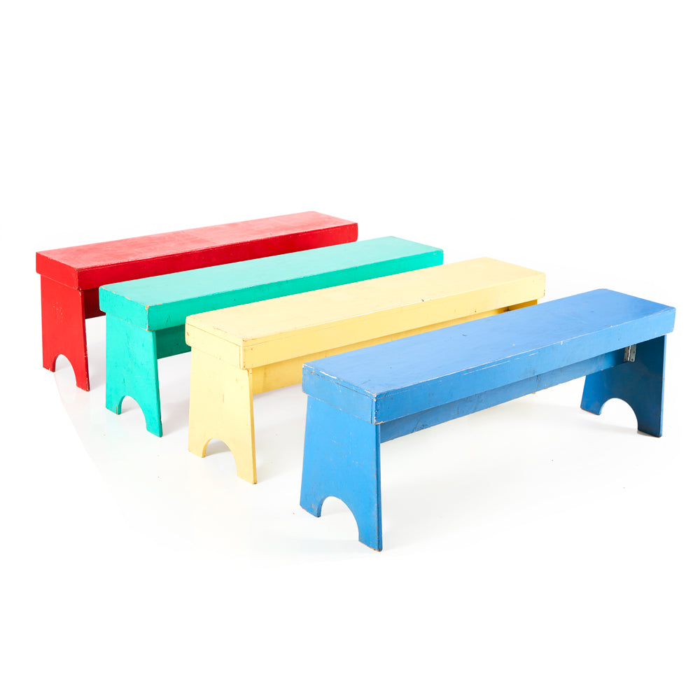 Multi-Color Wood Benches