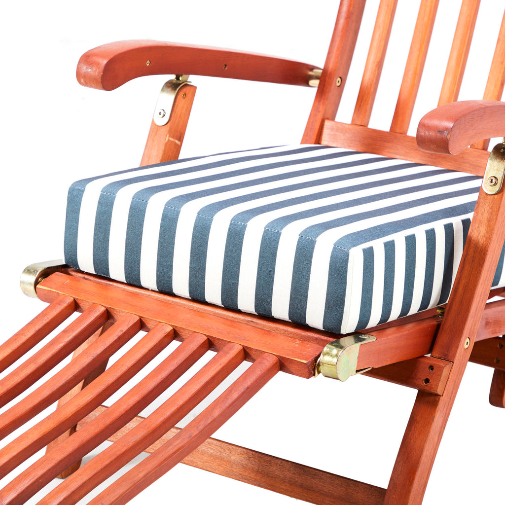 Wooden Outdoor Lounge Chair - Blue