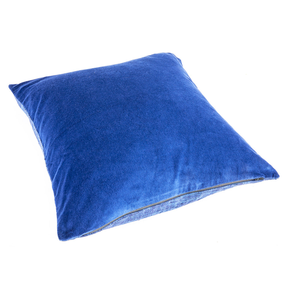 Cobalt Blue Velvet Pillow