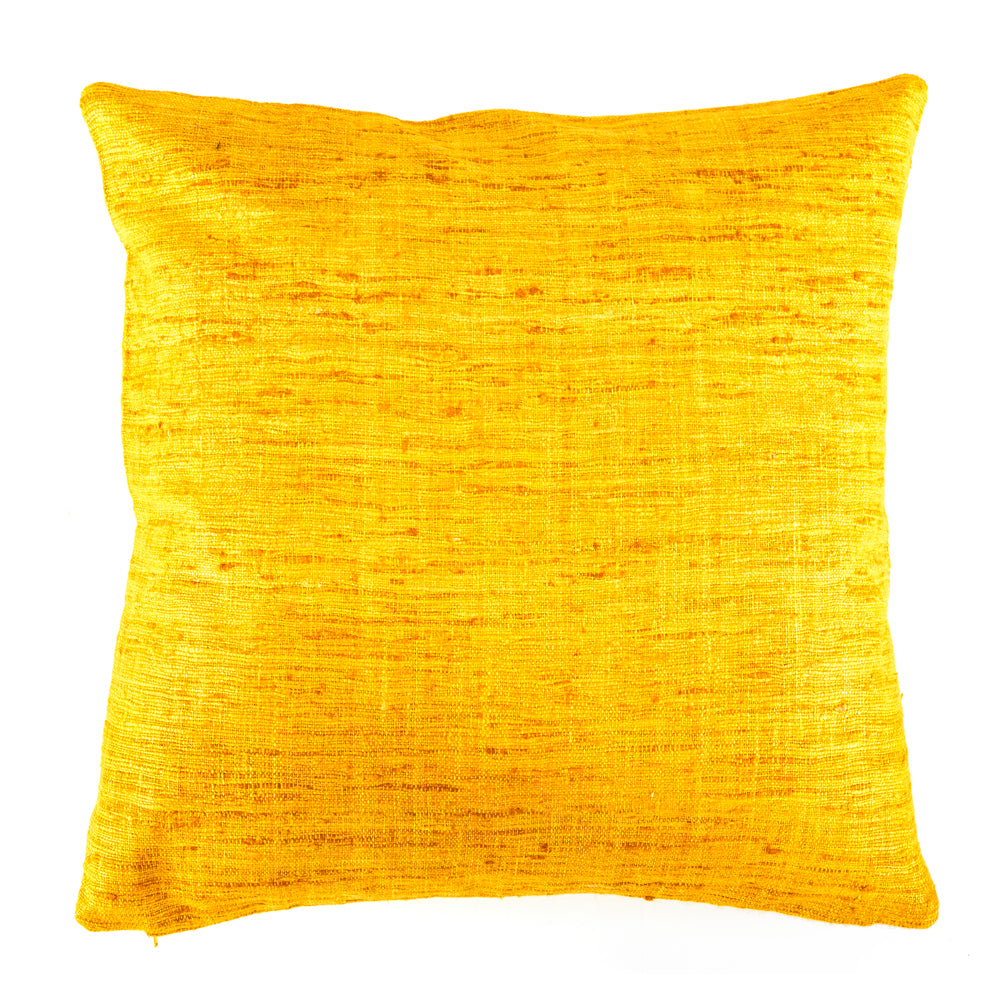Frayed Weave Yellow Pillow