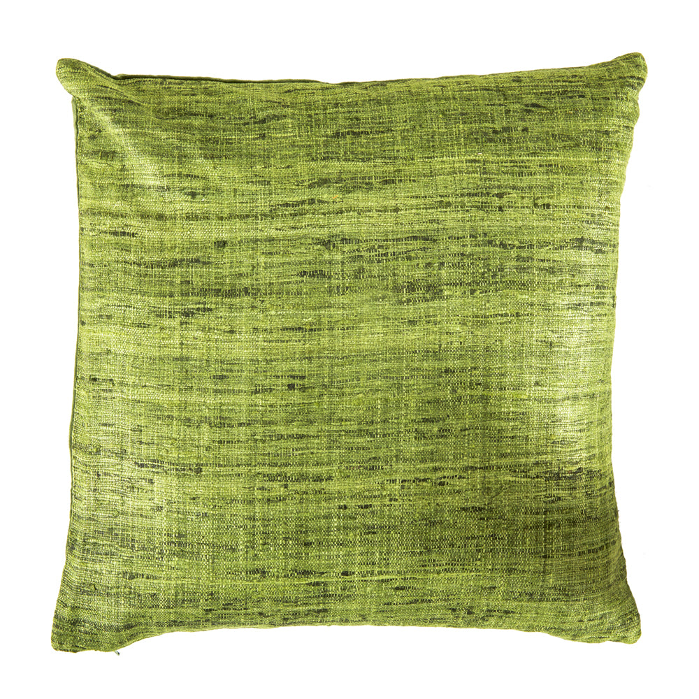 Frayed Weave Green Pillow