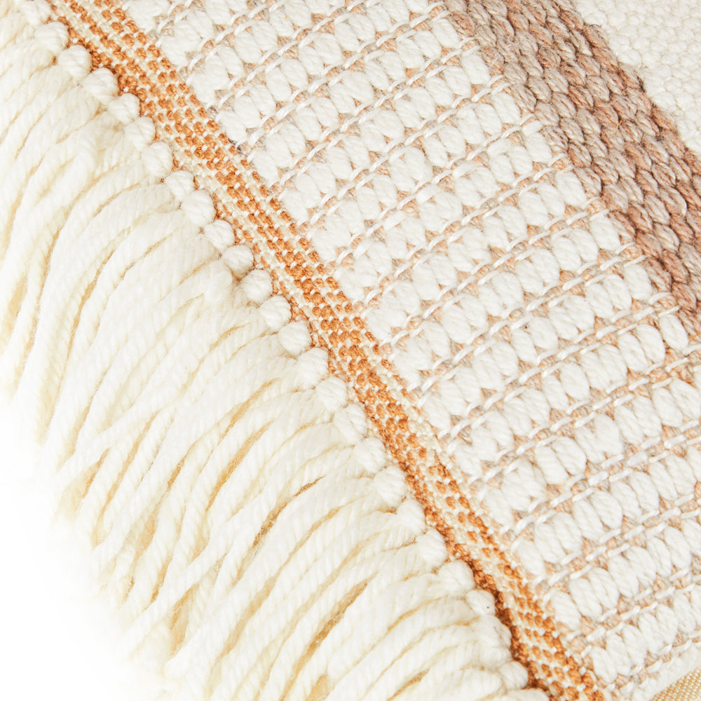Cream Yarn Knit Wool Pillow