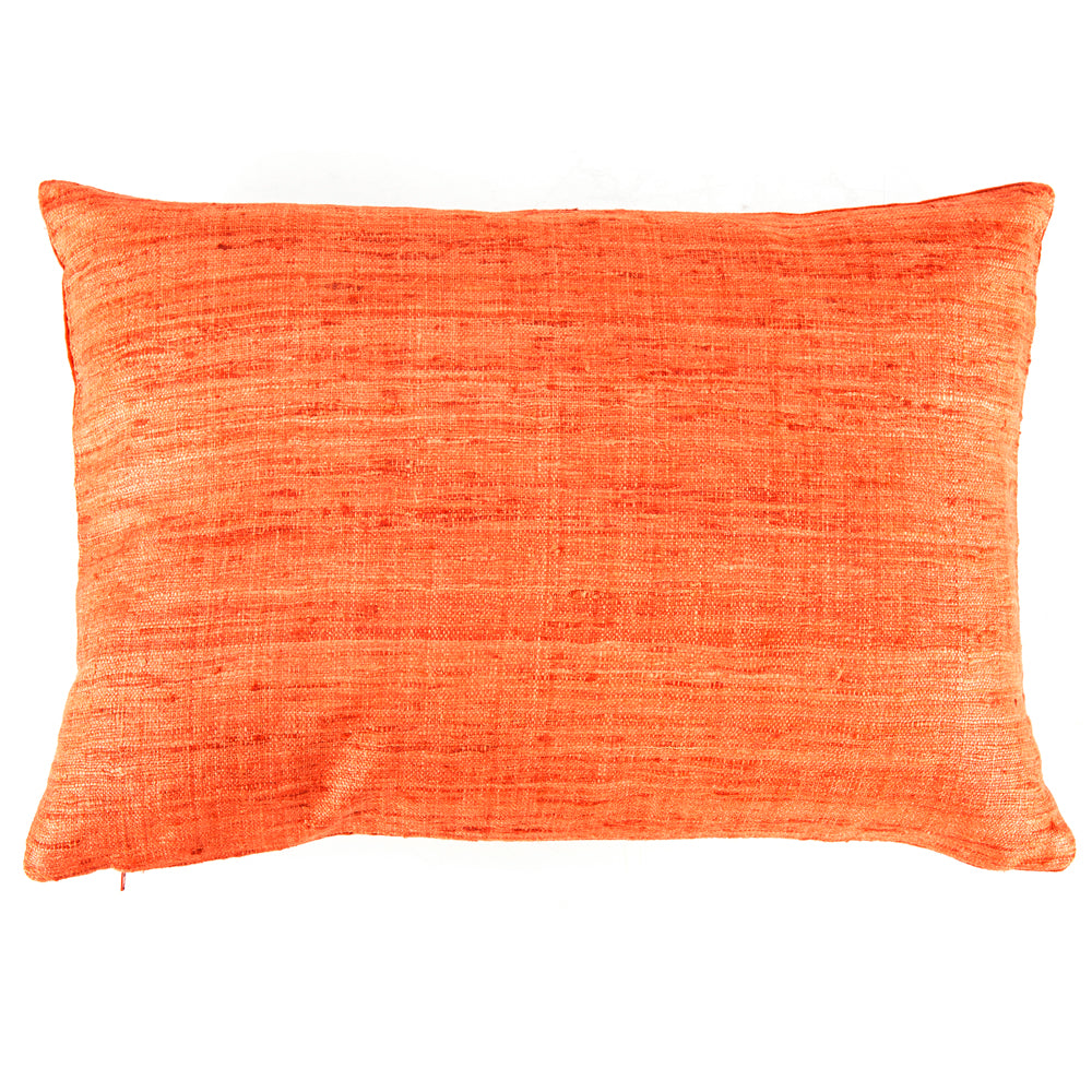 Frayed Weave Orange Pillow - Small