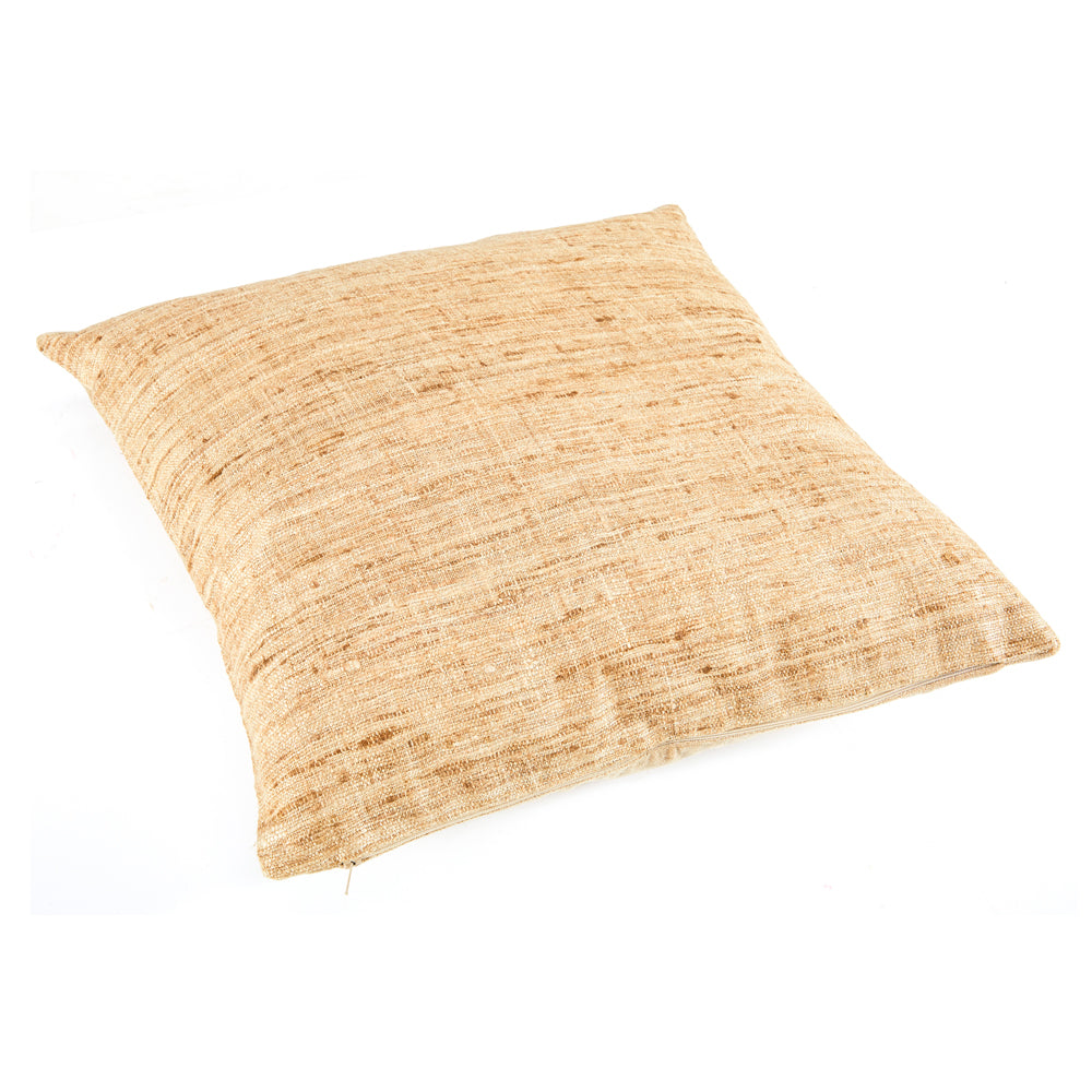 Frayed Weave Beige Pillow - Square
