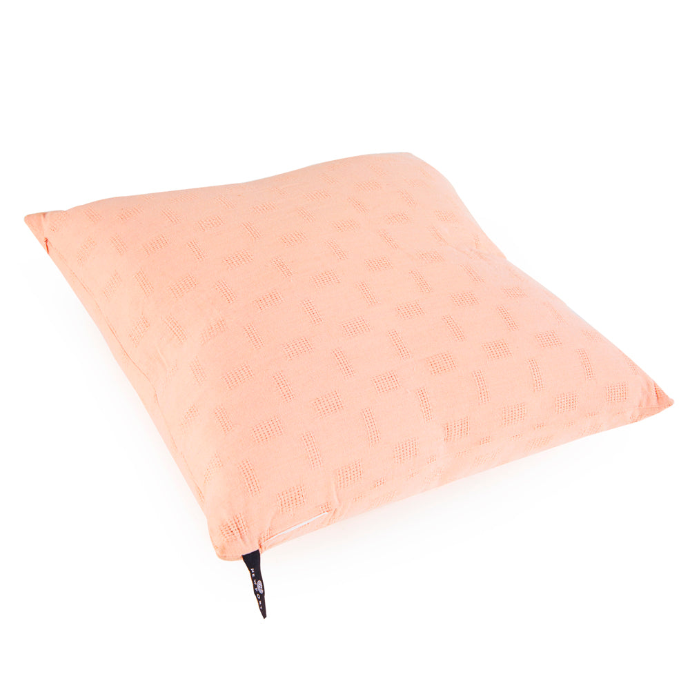 Textured Solid Peach Pillow