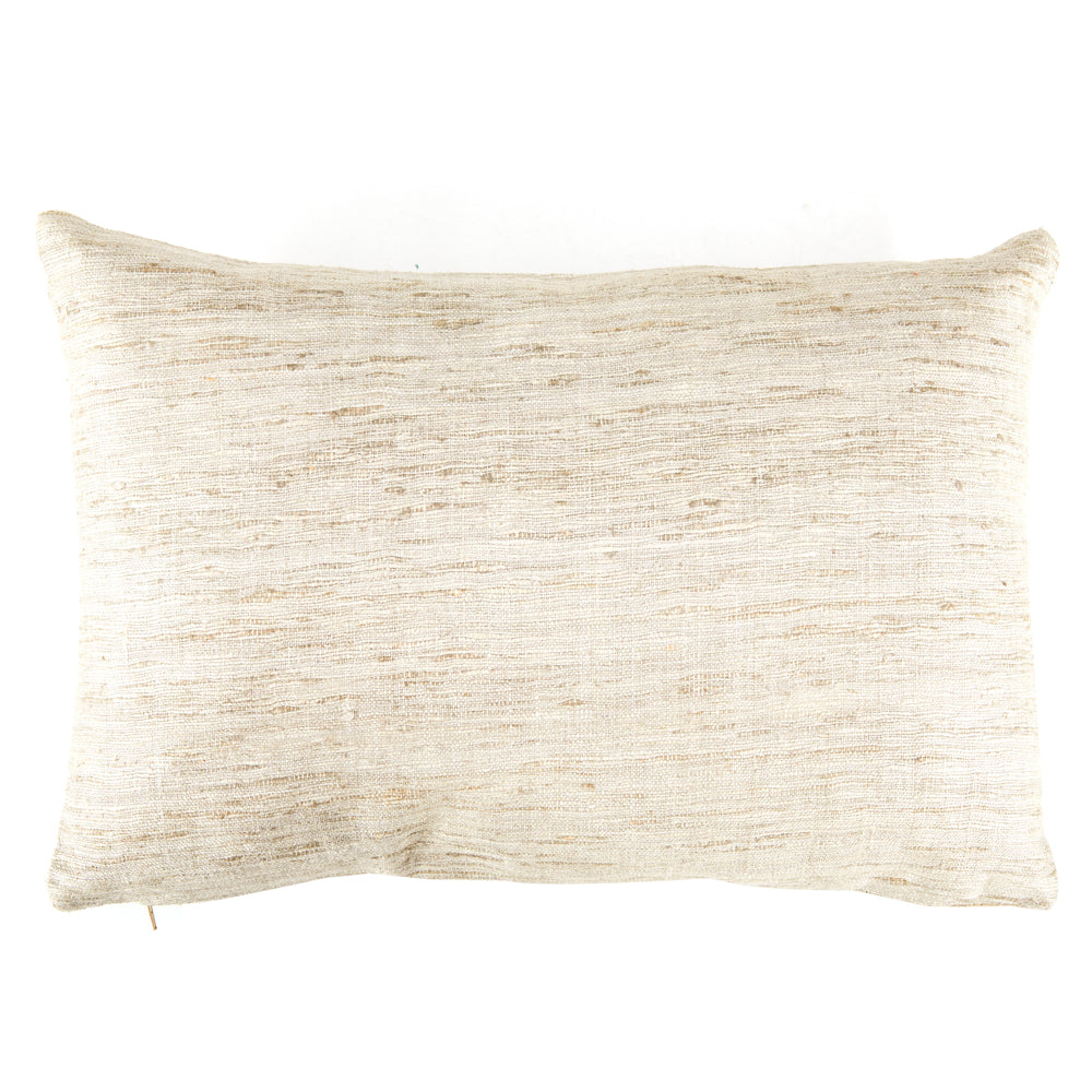 Frayed Weave White Pillow - Small