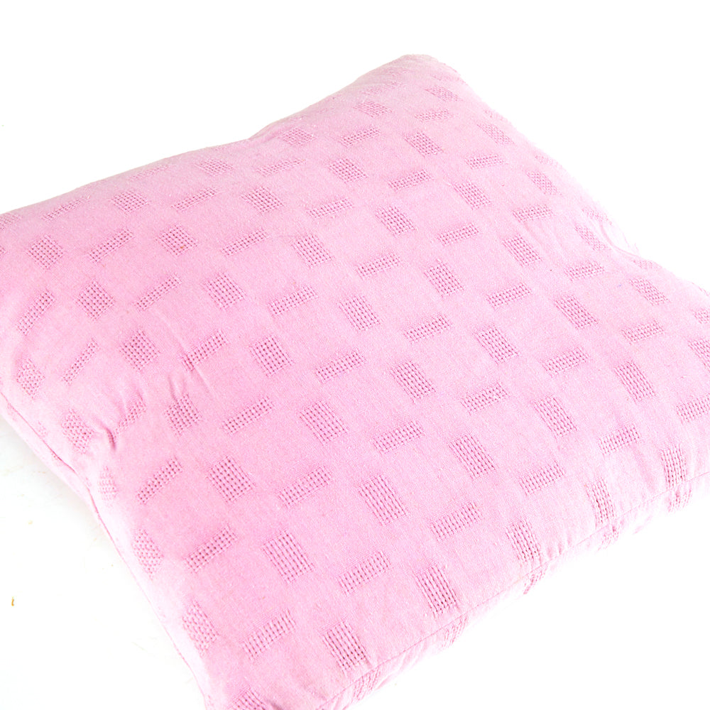 Textured Solid Pink Pillow