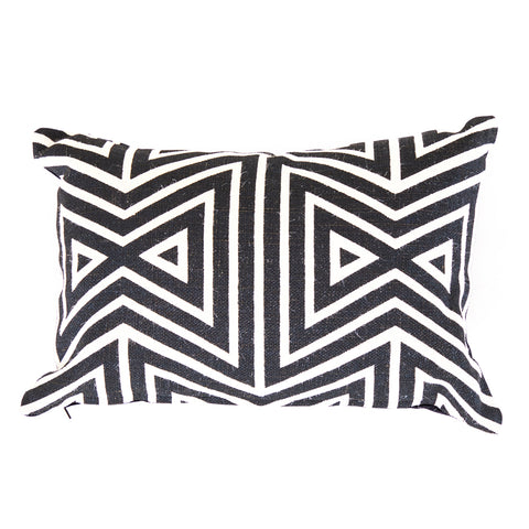 Black and White Tribal Pillow