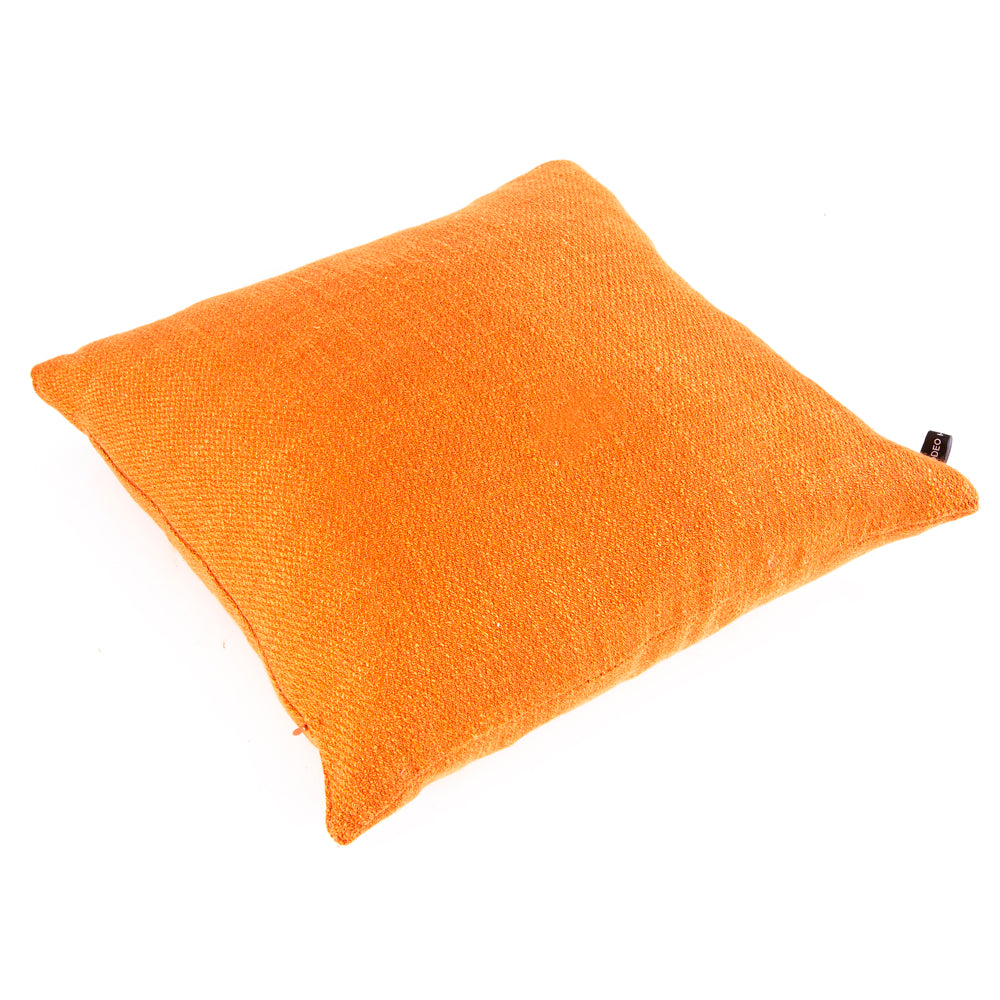 Solid Orange Woven Pillow