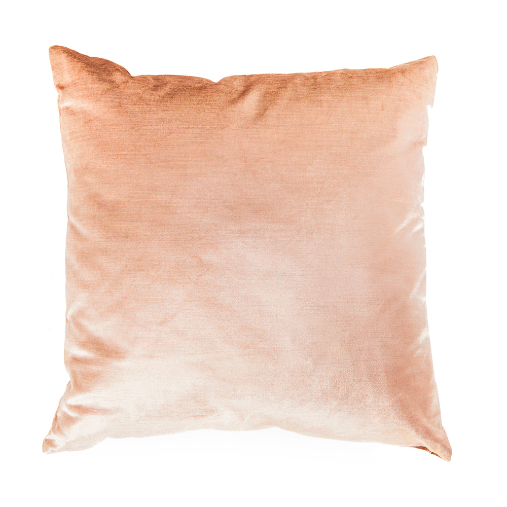 Salmon Velvet Pillow