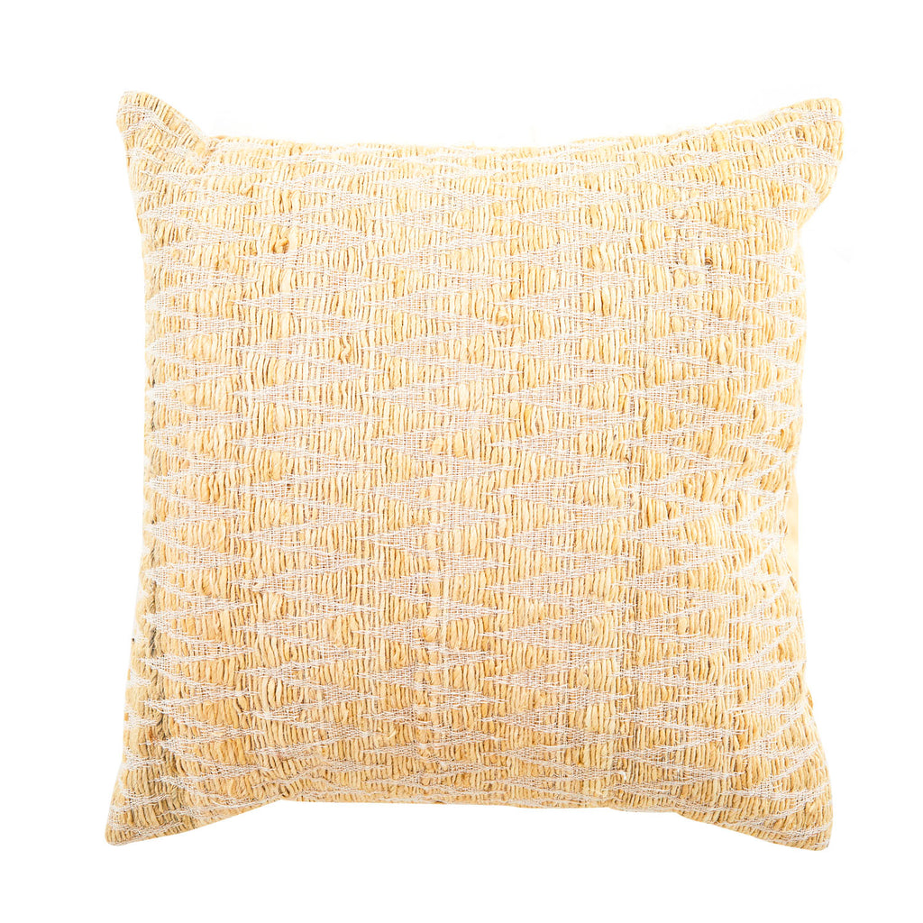 Tan Woven Zigzag Pillow