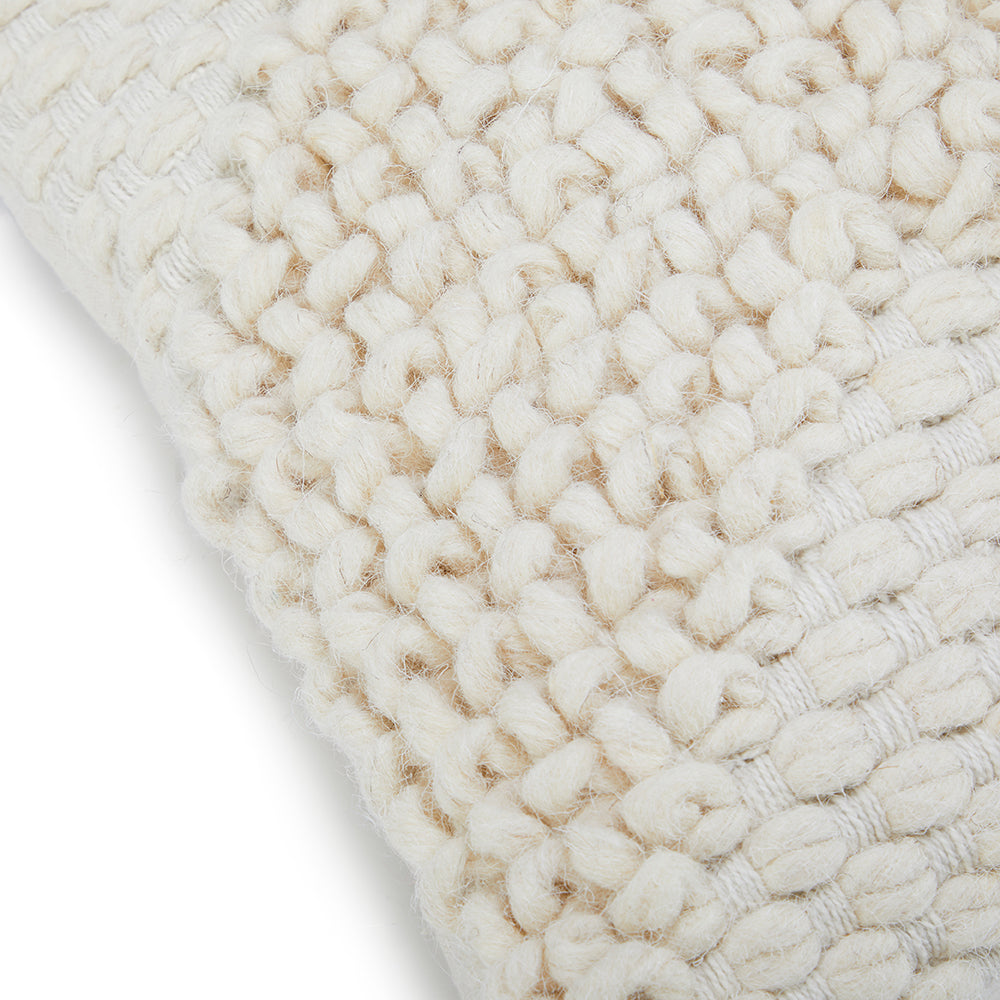 Knit Chevron Lumbar Pillow