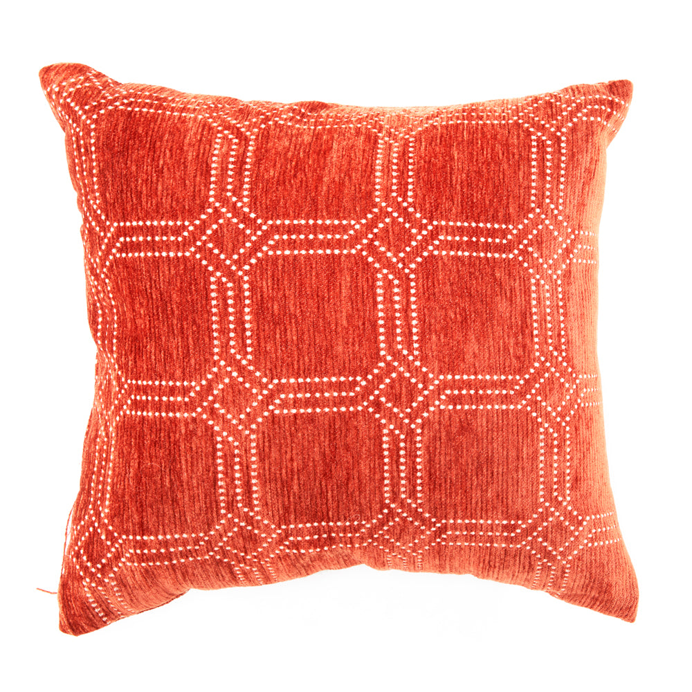Orange + White Dot Pattern Pillow