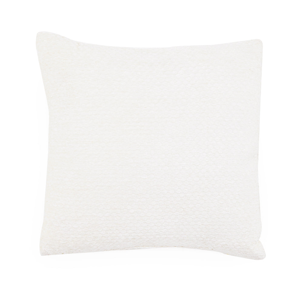 Solid Off White Textured Pillow