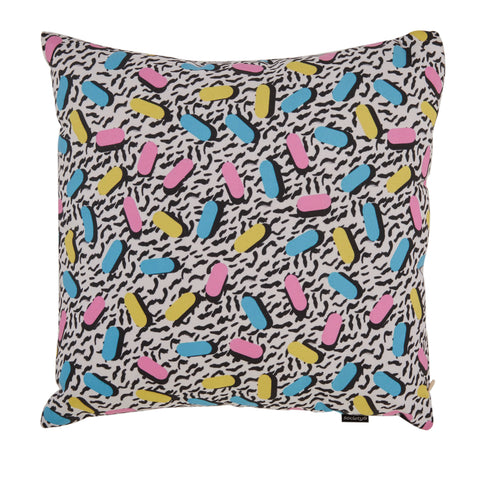 80s Wild Retro Square Pillow