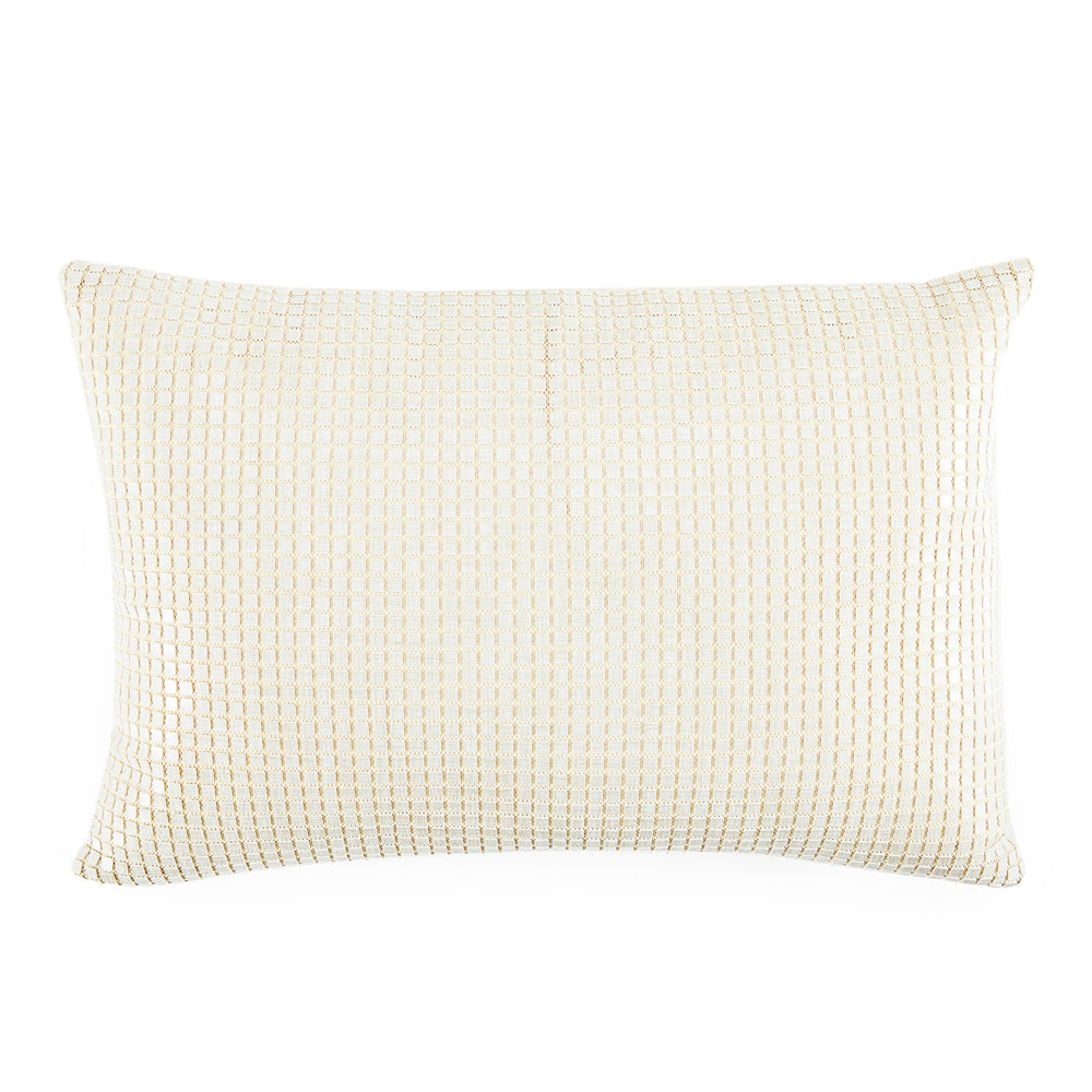 White Mesh Pattern Pillow